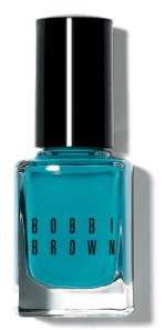 TURQUOISE BLUE. From eye shadow to nail polish, turquoise is this season's unexpected accent. The trick to keeping it modern—it's all about the right texture. On eyes, turquoise looks fresh when worn as a sheer wash of color on the lower lid. Try NEW Blue Moon Long-Wear Cream Shadow. A shot of opaque turquoise is a fun way to turn nails into an accessory. (Tip: Keep nails short and square). Try NEW Turquoise Nail Polish.
