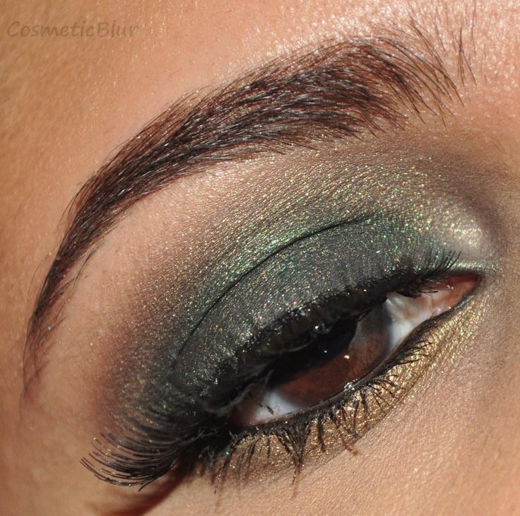 Eye Makeup, Hair Makeup Nails, Green Smokey Eye, Gorgeous Green, Bronze Green, Fab Makeup, Bronze Smokey Eye, Green Eye, Awesome Eye