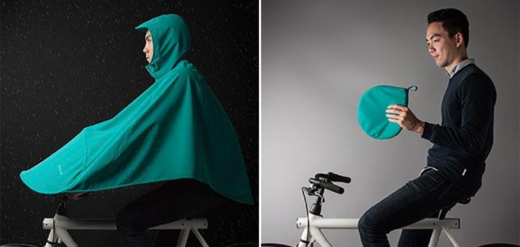 Il n'y a rien de tel qu'une averse lorsqu'on est en vélo pour rentrer chez soi complètement mouillé de la tête aux pieds. Aux Pays-Bas, la startup Vanmoof a imaginé Boncho, un poncho spécialement conçu pour vous protéger de la pluie lorsque vous êtes à vélo. Boncho se présente sous la forme d'un énorme coupe-vent qui va vous protéger de la pluie, de la tête aux pieds. Ce poncho va même jusqu'à recouvrir le guidon pour garder vos mains au sec.