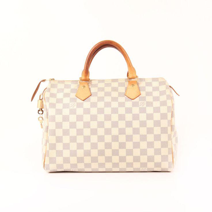 Lous Vuitton Bag Speedy 30 Damier Azur canvas.