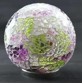 Purple & Green Mosaic Friendship Ball available at www.threemadfish.com