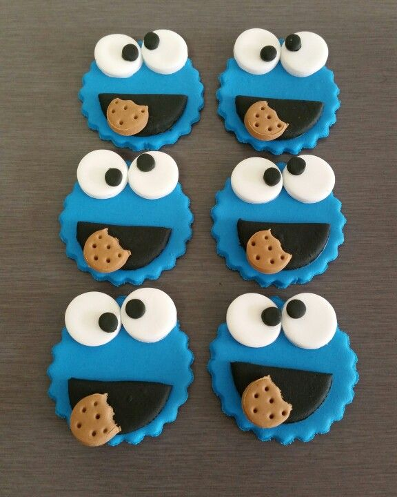 Cookie Monster edible Fondant Toppers