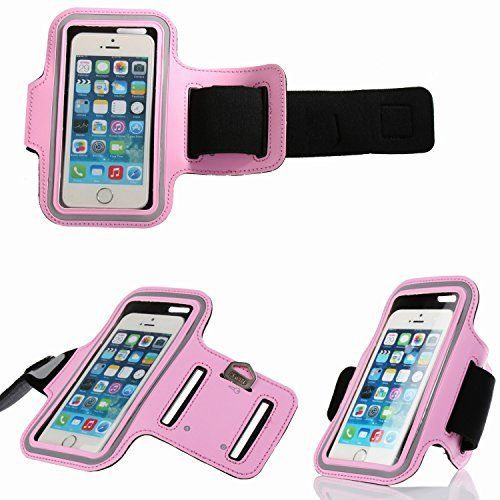 """stylish iphone armband for running walking exercise with adjustable strap fit for iphone 6 6s 5 5s 4.7"""" from Bosam(Pink). Iphone armband for running walking exercise."""