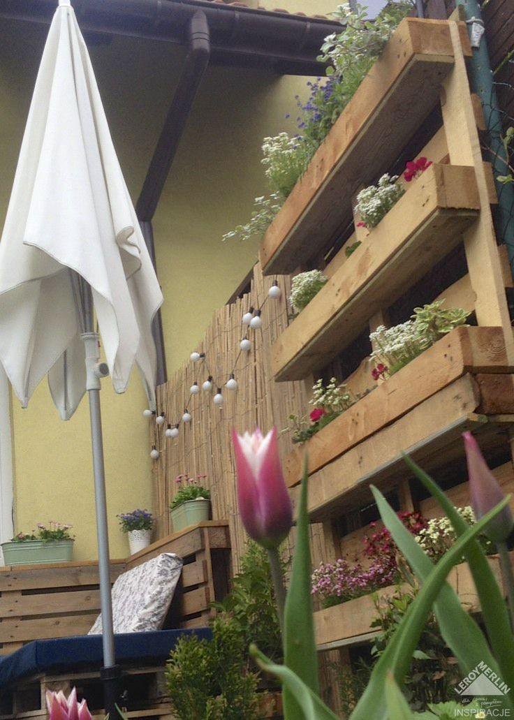 Ogród wertykalny z palet czyli... kwietnik i zielnik