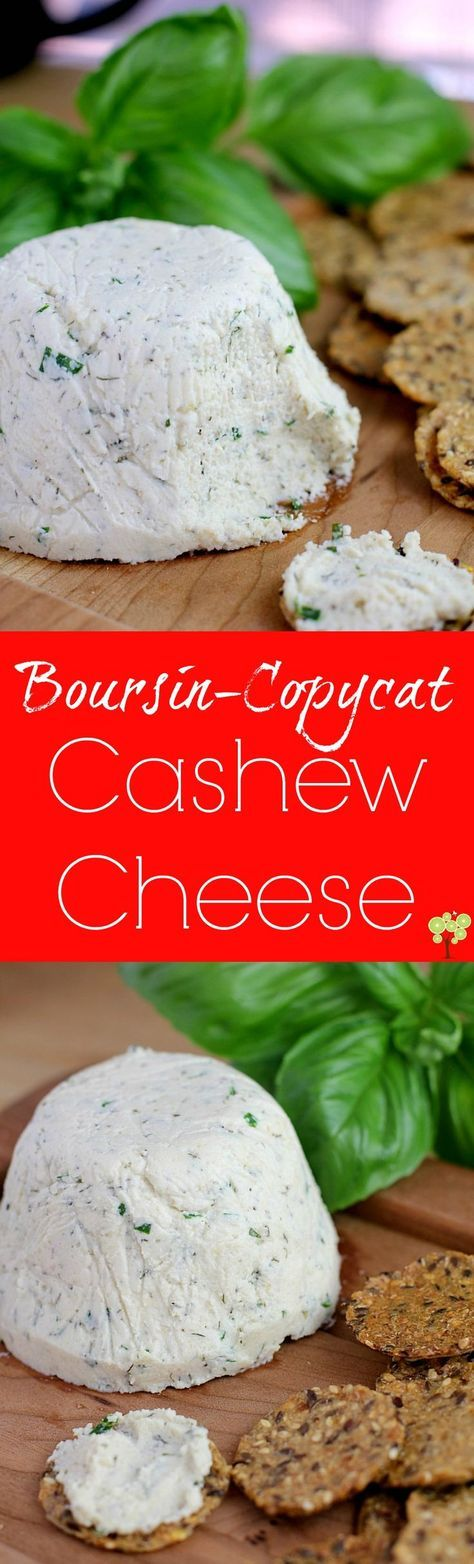 Boursin-Copycat Cashew Cheese! Dairy-free, gluten-free, vegan, you can STILL have your cheese and crackers  http://wp.me/p4qC4h-3rN