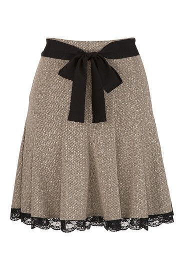 Lace Trim Tweed Skirt - maurices.com - Just got it in the mail and it is so cute!