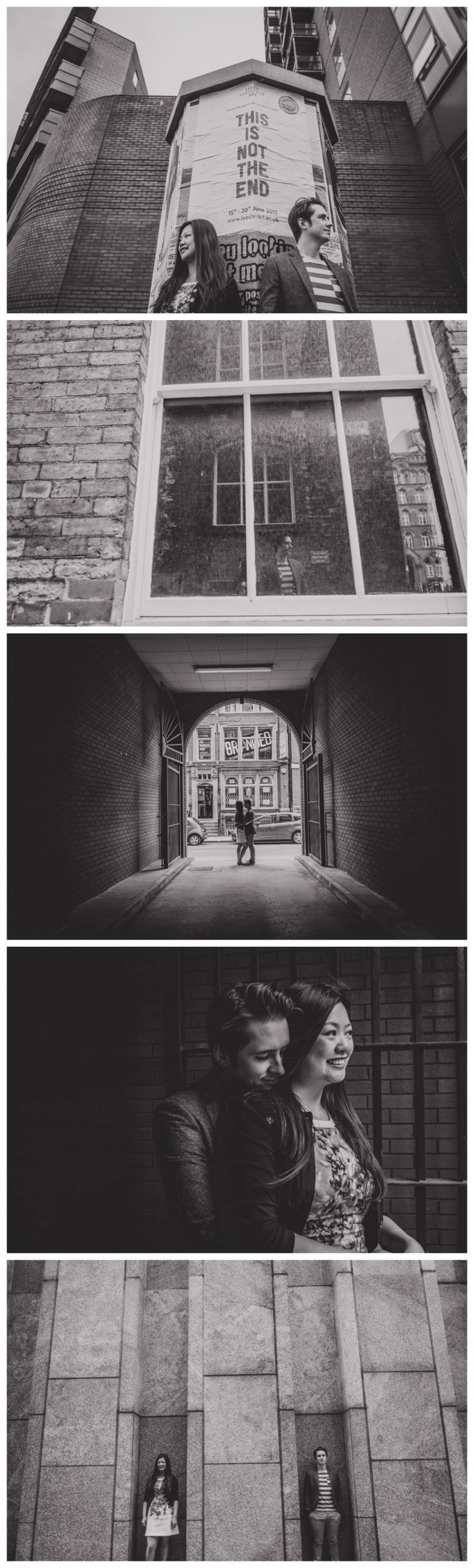 Urban engagement shoot in Leeds City