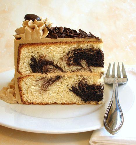 Caramel Mocha Marble Cake