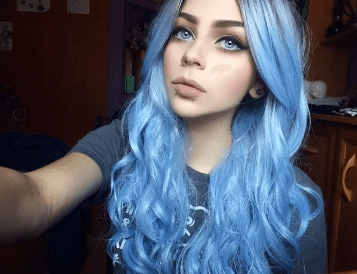 Pin em Cabelo azul