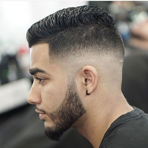 Short Spiky Hair with Shape Up and Mid Bald Fade