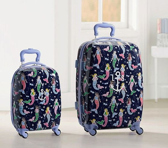 Mackenzie Navy Mermaids Hard Sided Luggage
