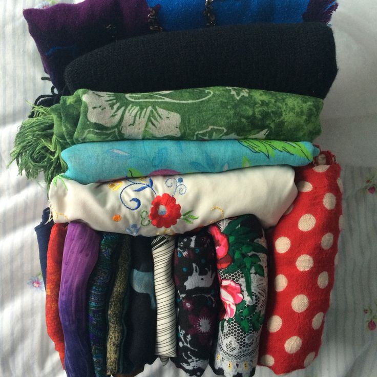 KonMarie way of storing scarves