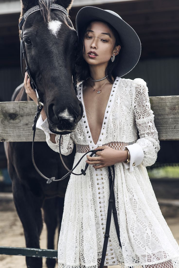 So much inspiration here: wool hat, lace Victorian silhouette, layered jewels.  Love!