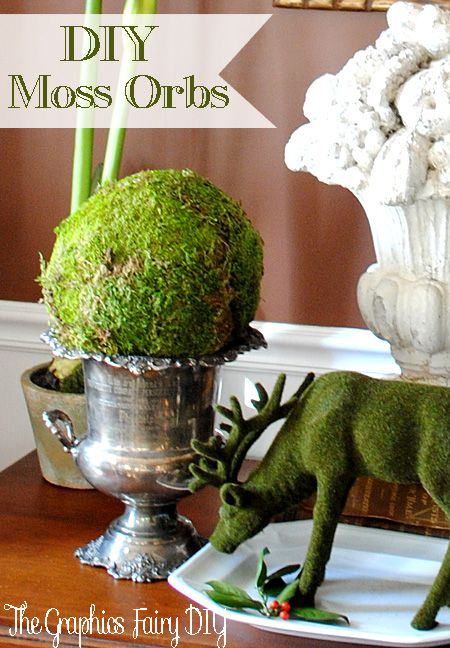 Decorative Moss Balls Endearing 30 Best Diy Moss Balls & Topiaries Images On Pinterest  Bricolage Decorating Design