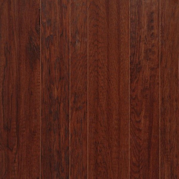 Hickory Prefinished Engineered Hand Scraped Hardwood Flooring By Harris Wood.  Finish Shown: Dark Canyon
