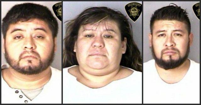 (L-R) Evaristo Hernandez-Vazquez, Norma Hernandez-Vazquez, Hector Hernandez-Vazquez, May 1, 2015 (Marion County Sheriff's Office)
