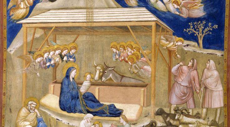 """Giotto di Bondone, italiensk maler og arkitekt (cirka 1266-1337): """"Kristi fødsel"""", cirka 1315/20. Freske i S. Franscesco-kirken i Assisi, Italien. Scanpix"""