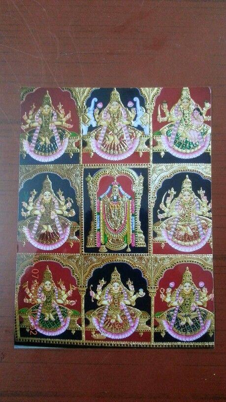 Ashtalakshmi In Tanjore Painting Art Tanjore