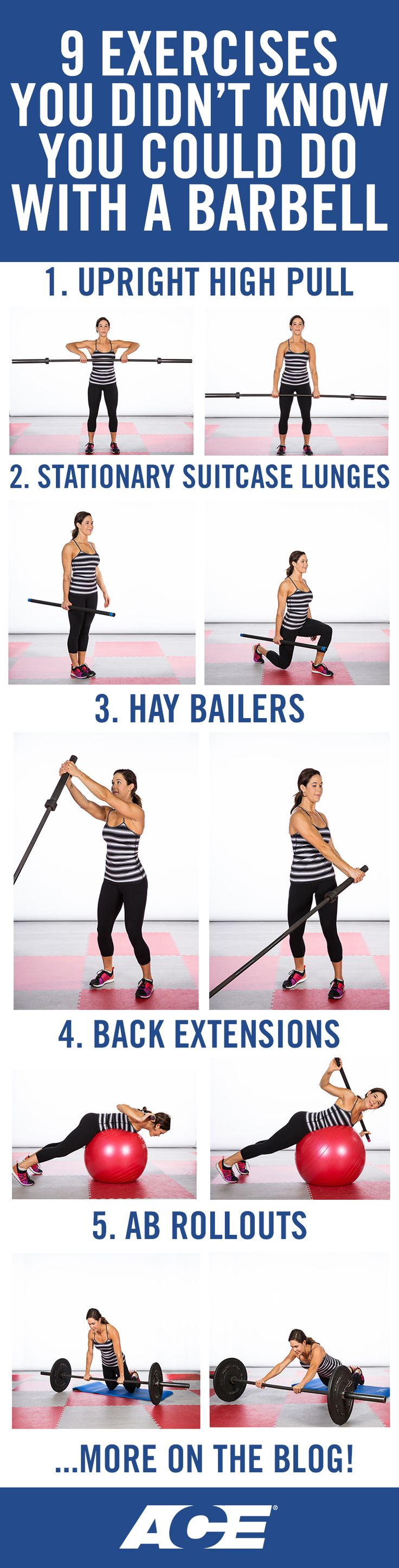 9 Exercises You Didn't Know You Could Do With a Barbell