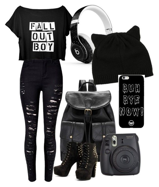 """High school: that false emo"" by abdiva03 ❤ liked on Polyvore featuring Beats by Dr. Dre"