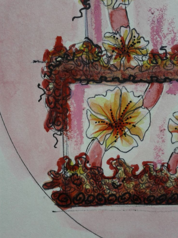 Flowers_Cake_drawing_details01