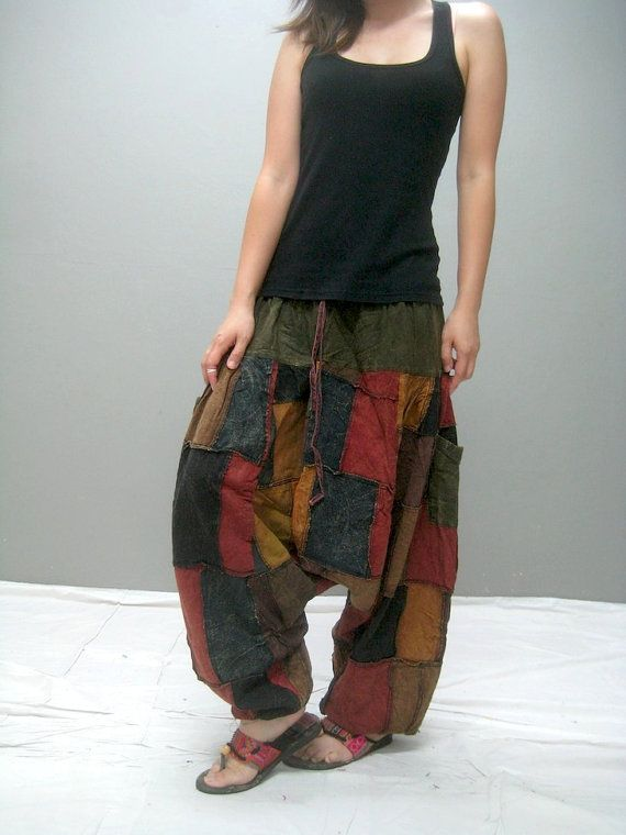 MEN Patchwork harem pant 298.2 by thaitee on Etsy
