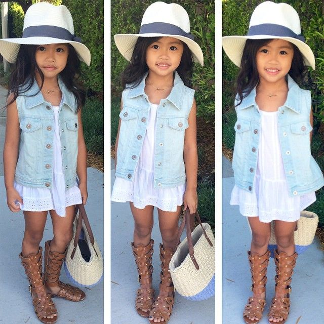 Spring / Summer outfit for little girls. Kids Fashion.