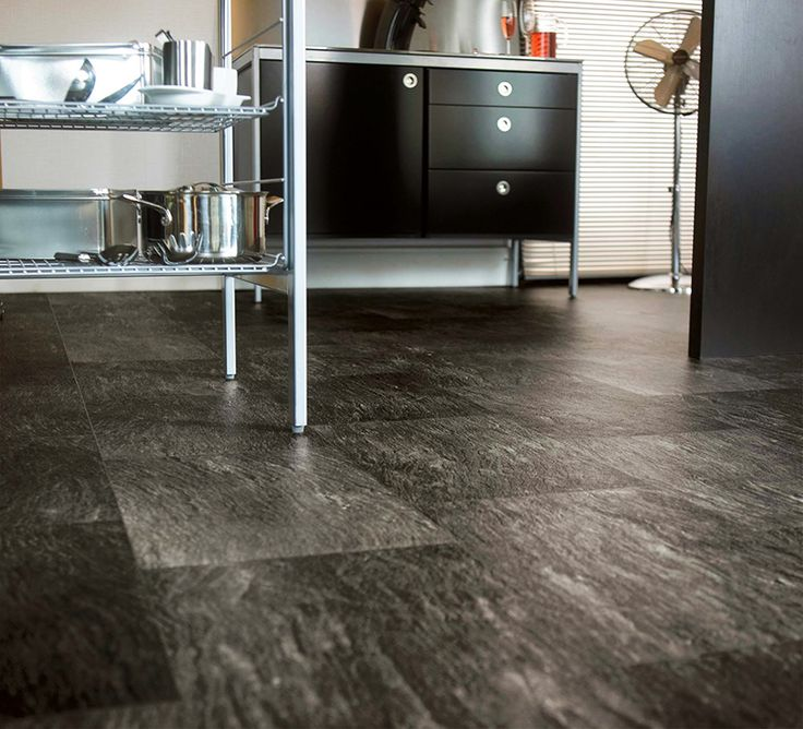 Black Vinyl Kitchen Flooring: Luxury Vinyl Flooring, Vinyl Sheet Flooring And Flooring Options