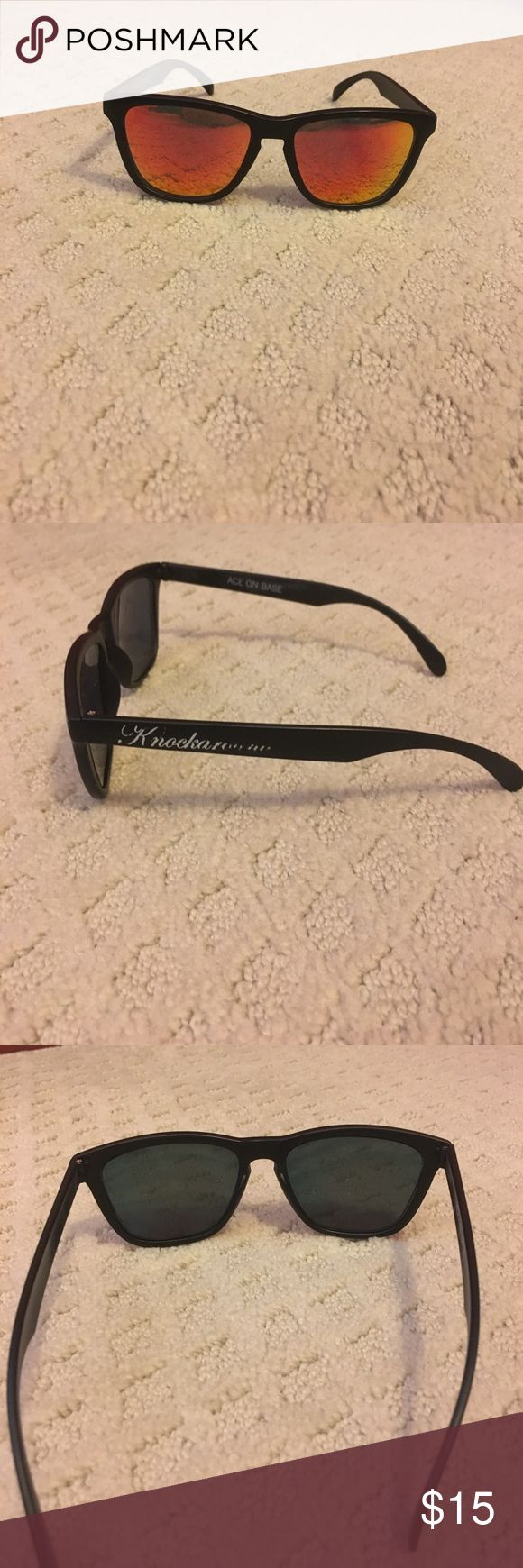 Knockaround sunglasses Knockaround sunglasses with red/orange lenses. Worn once! knockaround Accessories Sunglasses