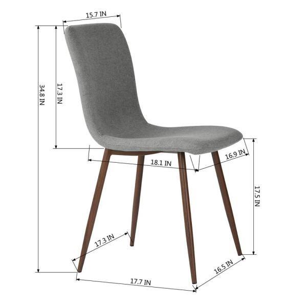 Furniturer Scargill Grey Fabric Dining Chair Set Of 4 Scargill Grey The Home Depot In 2021 Fabric Dining Chairs Dining Chairs Side Chair Dining Room