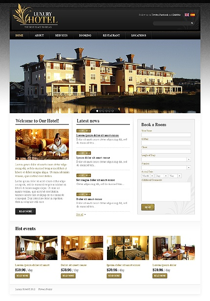 7 best images about hotel spa web design layouts on for Design hotel website
