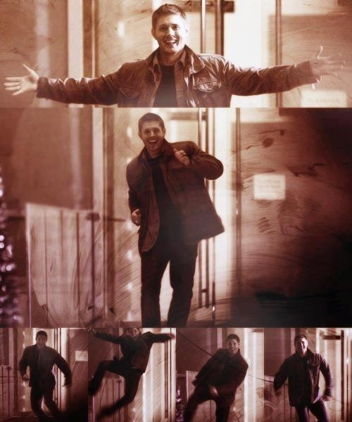 Happy Dean... Savor the momentous occasion of seeing this brave man happy for in the blink of an eye, it won't last...