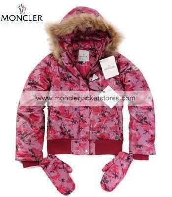 Moncler Branson Down Winter Jackets Women Pink Red