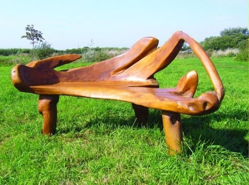 Reclaimed Teak Garden Bench eclectic outdoor stools and benches