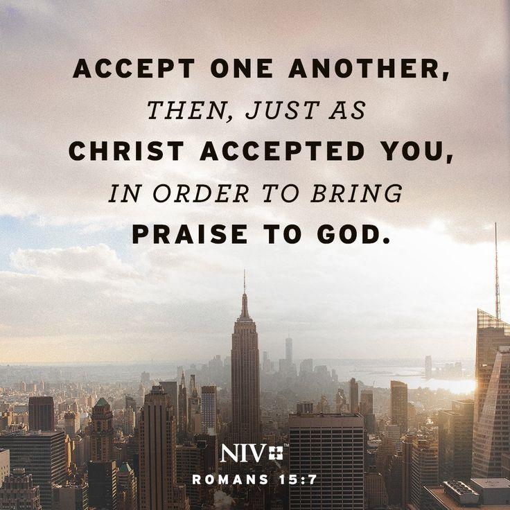 NIV Verse of the Day: Romans 15:7
