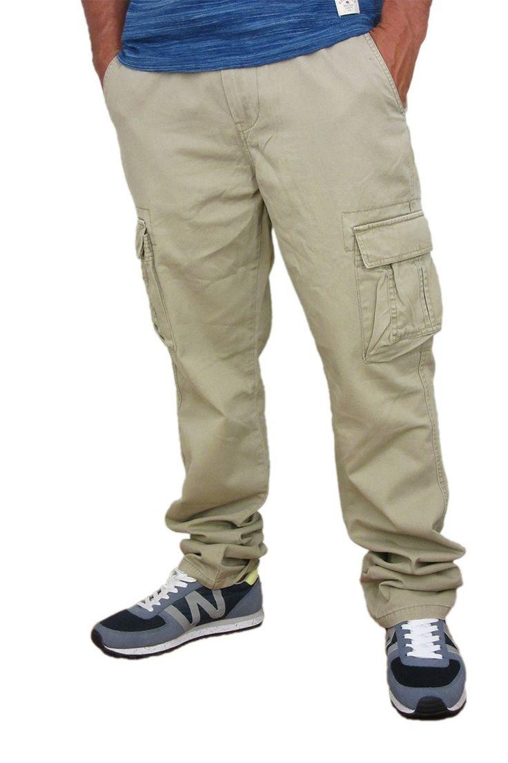 Ανδρικό cargo παντελόνι μπεζ #joy #style #fashion