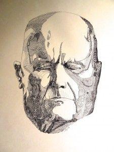 Jean Sibelius (1865-1957. Teckning: Sten Wistrand.