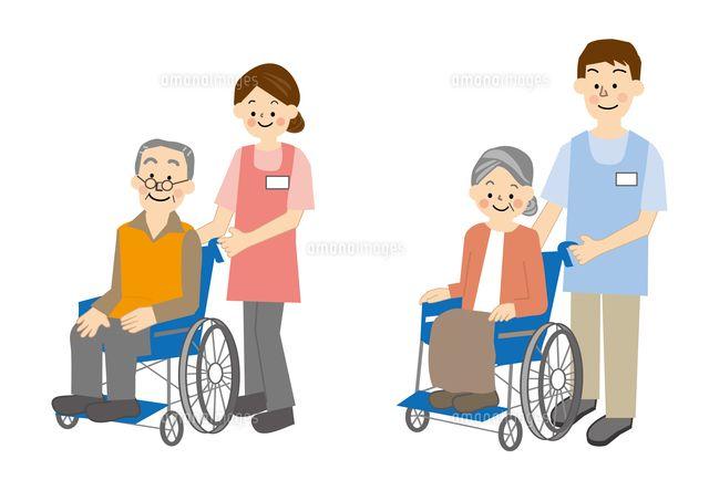 介護 車椅子 高齢者 (c)Kazuko Tsukamoto/a.collectionRF