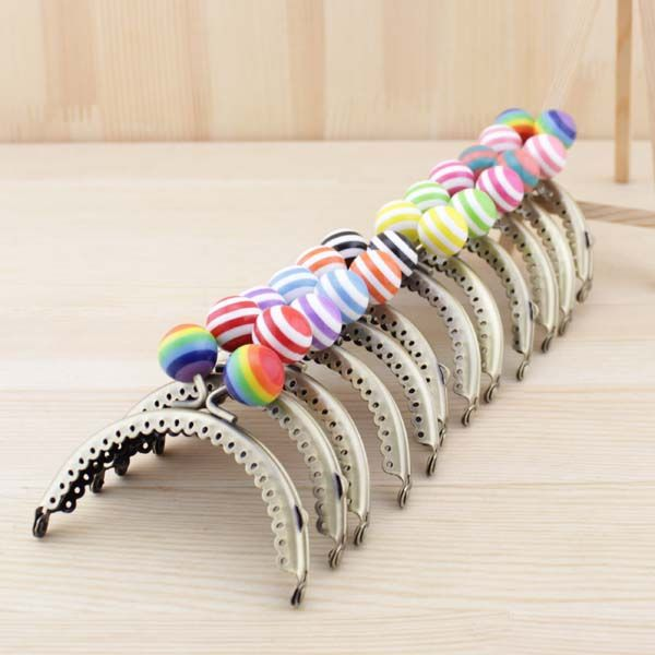 12pieces/lot ,8.5cm multi colors Candy Vaulted shape Metal Purse Frame Handle for Bag Sewing Craft,Coin Purse Frames K238 //Price: $US $36.48 & FREE Shipping //     #kitchenappliances