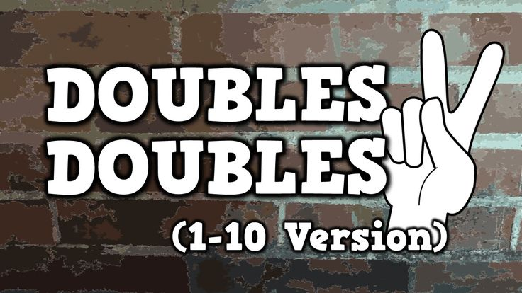 DOUBLES! DOUBLES! (*new* 1-10 version) - This is a new version of this song which goes to 10.  The first version goes to 5.  I would use this with my students when we are discussing adding doubles.  I would start with the version from1-5 first and then move on to this video.