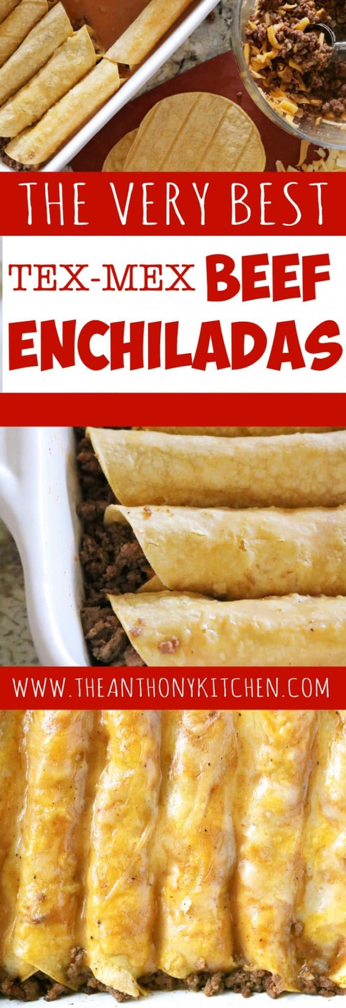 Tex-Mex beef enchiladas | Featuring ground beef enchiladas, a homemade beef gravy, and a freshly grated cheese blend | #thebestbeefenchiladas #enchiladarecipe #texmexrecipes #mexicanfood #groundbeefrecipe