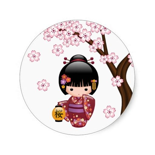 1000 images about fun stickers for all on pinterest for Stickers kokeshi