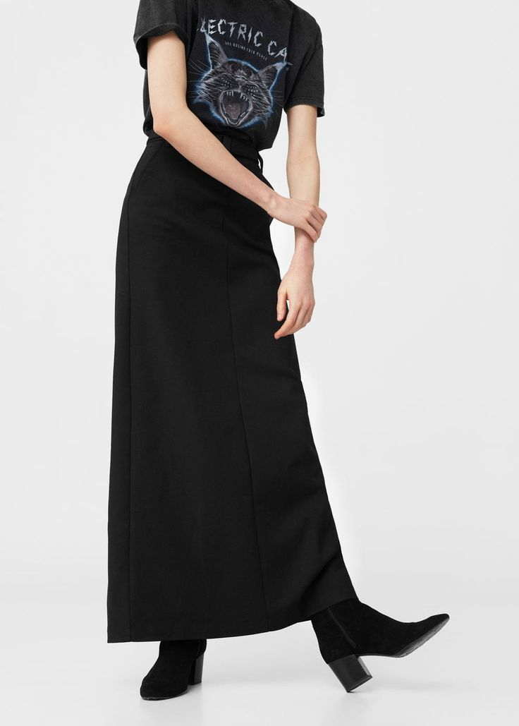 Belt long skirt | MANGO