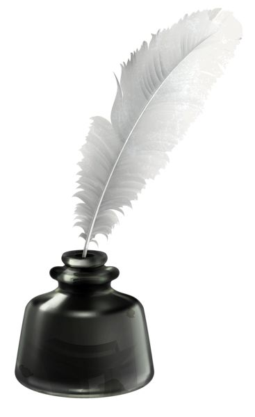 Quill and Ink Pot Transparent PNG Vector Clipart ... Quill And Ink Pot