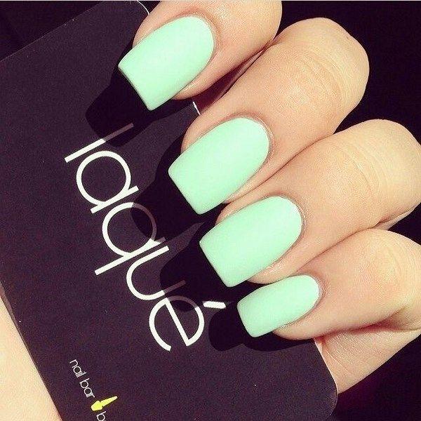 Encuentra variados y hermosos diseños de uñas color menta, unas geniales uñas con un color especial para toda ocasión ~ uñas perfectas.