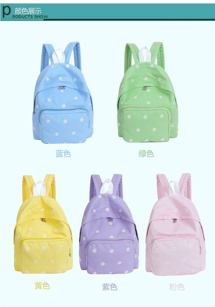 2014 падение новый корейский мода холст дважды сумка студенты рюкзаки небольшой цветочный узор школа рюкзакмедицинский конфеты цвет сумки купить на AliExpress