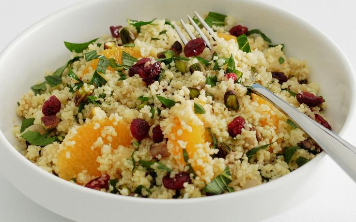 Cranberry and Pistachio Couscous Salad