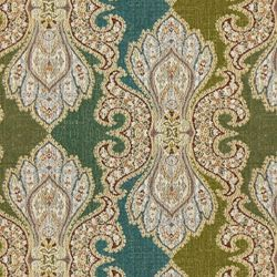 "CROWN TOP - ROBERT ALLEN FABRICS    POOL    END USE:Furniture, Cushions  WIDTH:58""  REPEAT:Vertical - 14.00""  FIBER  CONTENT:42% Polyester, 33% Rayon, 25% Cotton  ORIGIN:USA  FINISH:Teflon"