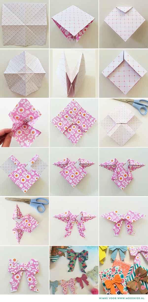 Origami strik vouwen van papier | Moodkids