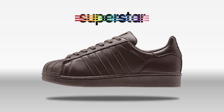 Adidas Superstar Brown Gold